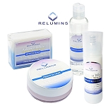 Authentic Relumins Advance White Facial Set - TA Stem Cell Premium Day Cream, Intensive Repair Toner, Intensive Repair Serum & Soap
