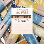Buy Bulk & SAVE! 100 Sachets Relumins Premium Collagen Blend Bulk Package - Buy 50 Get 50 FREE - 100% Premium-Grade ActuMarine Collagen with Glutathione, Green Tea Extract and CoQ10
