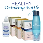 Relumins Premium Collagen Blend (20 sachet) & Relumins All in one day lotion with Relumins Water Infuser Bottle