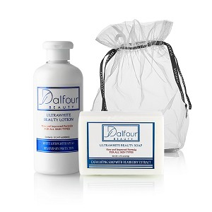 Dalfour Beauty Body Whitening Lotion and Ultrawhite Beauty Soap Combo