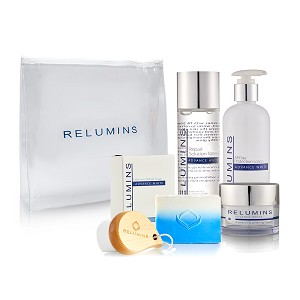 New! Relumins Advance White Face & Body Set - TA Stem Cell Premium Day Cream, Intensive Repair Toner, Soap, Facial Brush, & All In One Day Lotion