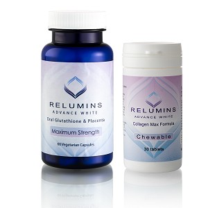 Authentic Relumins Oral Glutathione & Collagen Stack - Advance White Oral Glutathione & Advance White Collagen Max Chewables